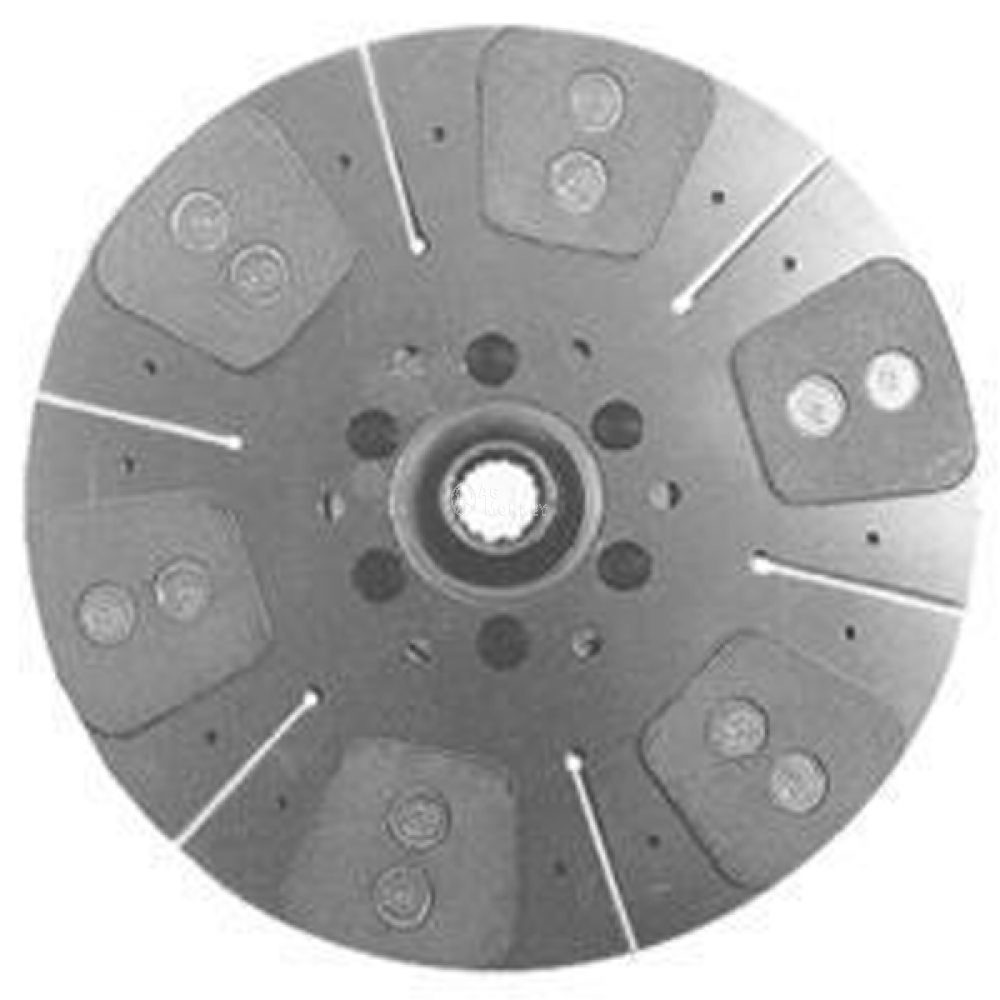 "R43203 HD6 NEW 13 1/2"" Dual Stage Clutch Disc (6-Large Pads) For John Deere 4320"